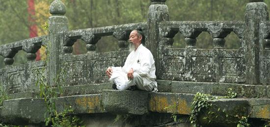 медитирует